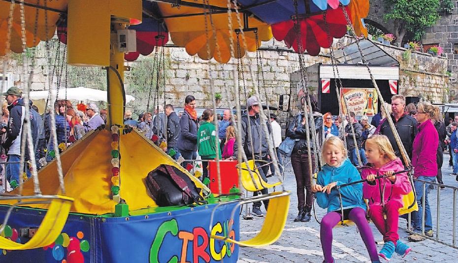 Auch für kleine Besucher wird es in Kronach nicht langweilig.Fotos: H. Schülein