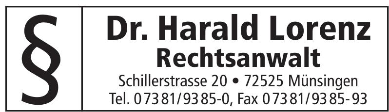 Dr. Harald Lorenz Rechtsanwalt