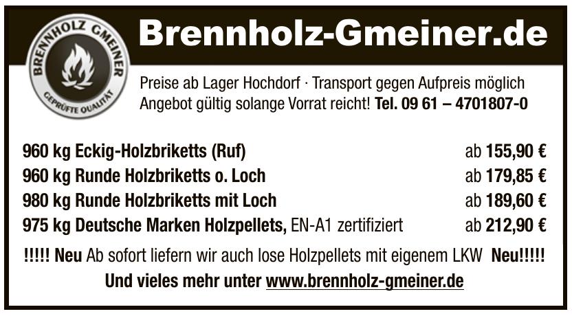 Brennholz-Gmeiner