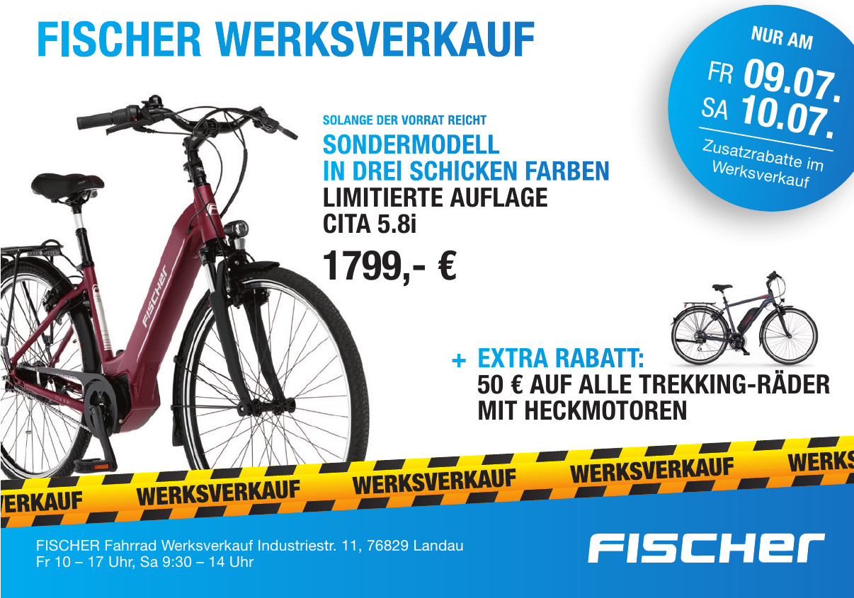 Fischer Fahrrad Werksverkauf