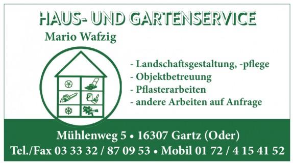 Haus- und Gartenservice Mario Wafzig