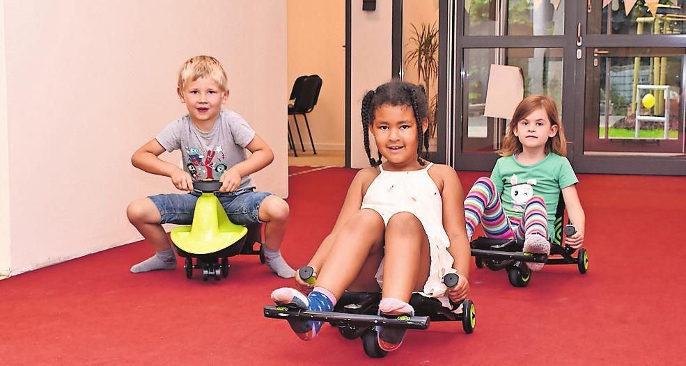 Das freie Spielen und viel Bewegung ist in der Kindertagesstätte ein wichtiger Schwerpunkt.