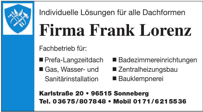 Firma Frank Lorenz