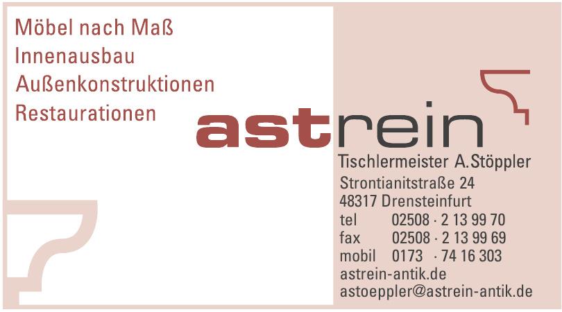Astrein Tischlermeister A. Stöppler