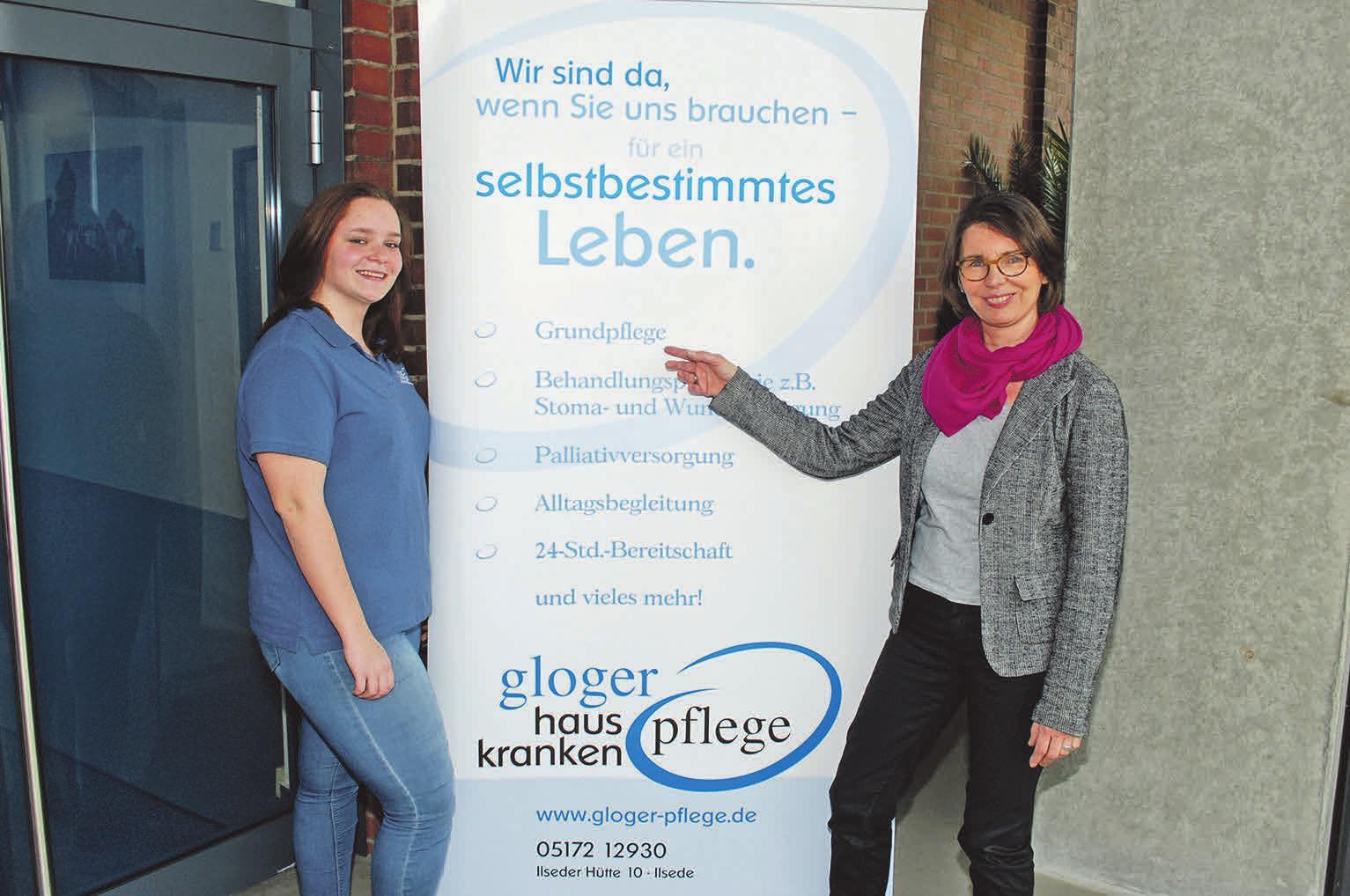 Josephine Pittel (links) und Christine Gloger freuen sich über jungen Nachwuchs im Pflegeteam.     Foto: Birthe Kußroll-Ihle