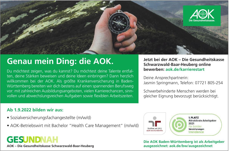 AOK – Die Gesundheitskasse Schwarzwald-Baar-Heuberg