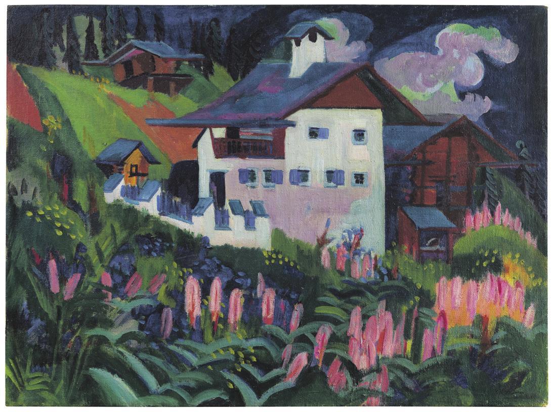 Erfolgreich versteigert: Ernst Ludwig Kirchner, Unser Haus, 1918-1922. Foto: © Ketterer Kunst GmbH und Co. KG