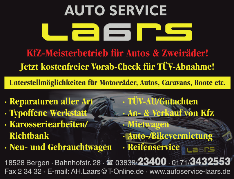 Auto Service by Laars LTD & CO. KG