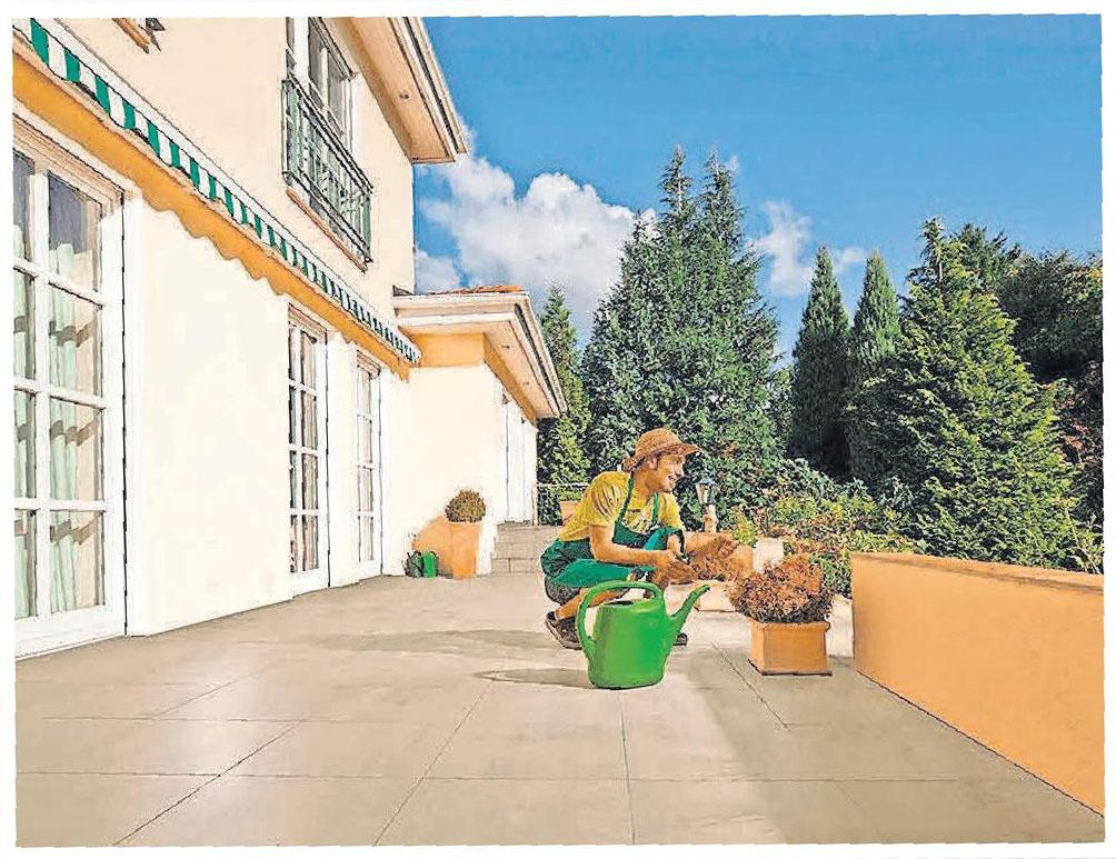 Balkone und Terrassen zeigen sich gerne in einem schönen Bild.