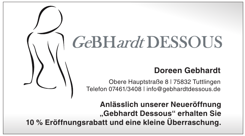 Gebhardt Dessous