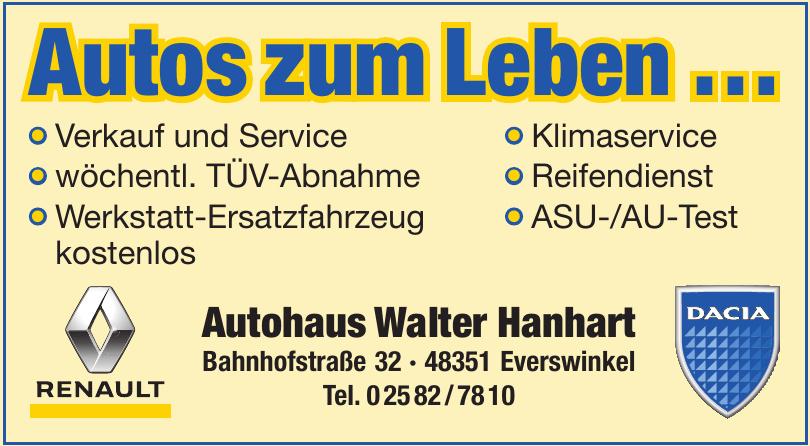 Autohaus Walter Hanhart e.K. - Renault Vertragspartner