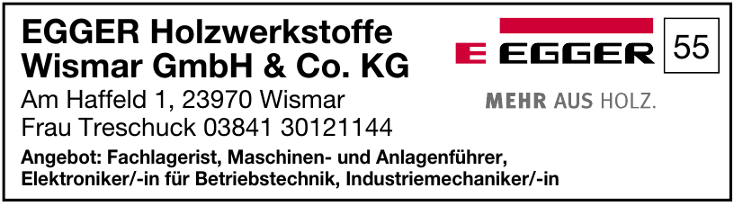 EGGER Holzwerkstoffe Wismar GmbH & Co. KG