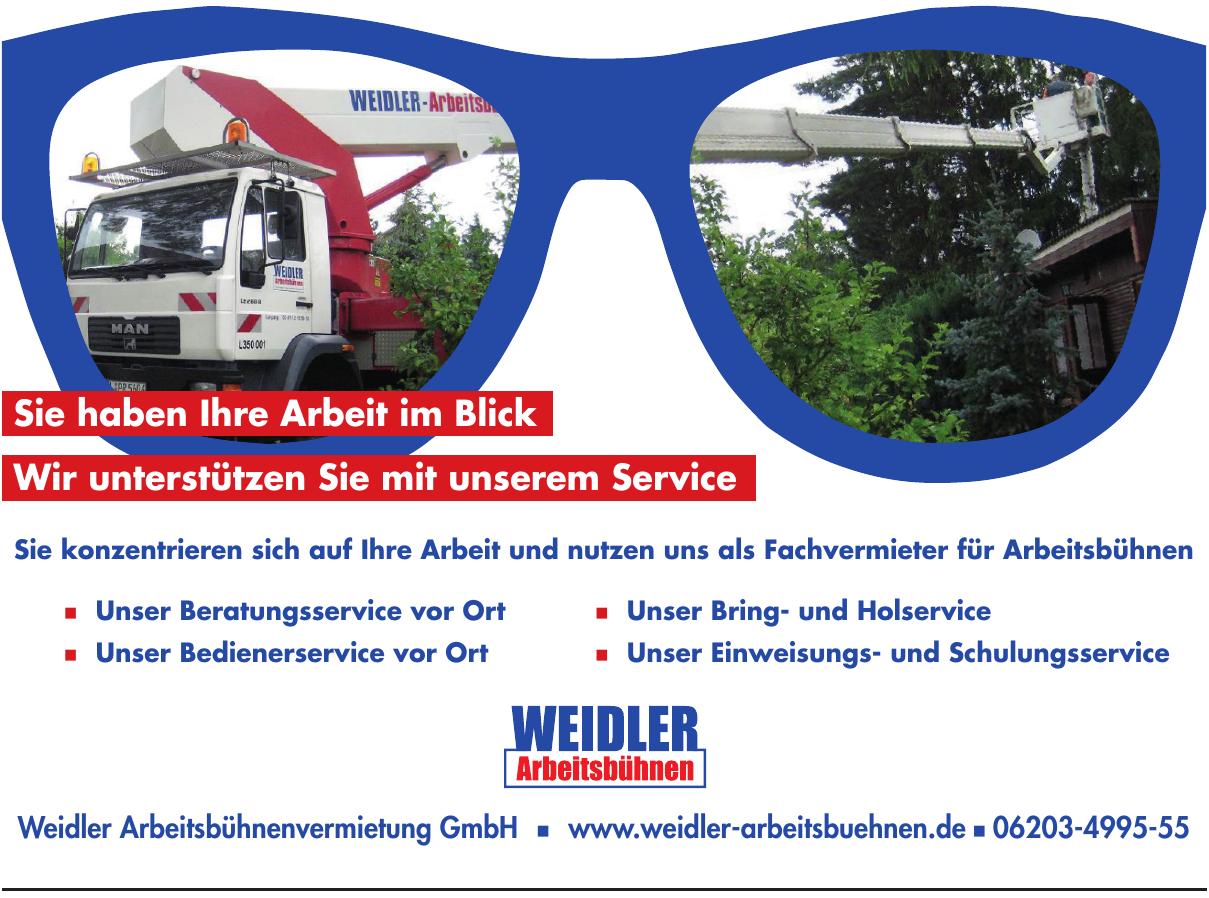Weidler Arbeitsbühnenvermietung GmbH