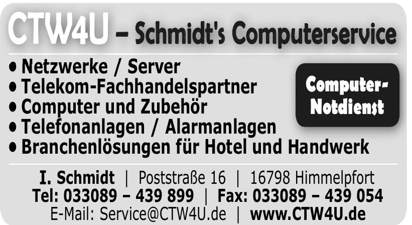 CTW4U – Schmidt's Computerservice