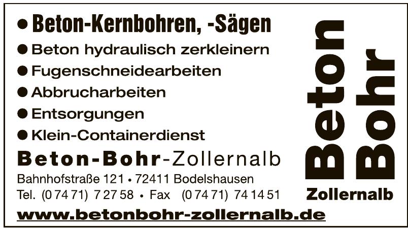 Beton-Bohr-Zollernalb