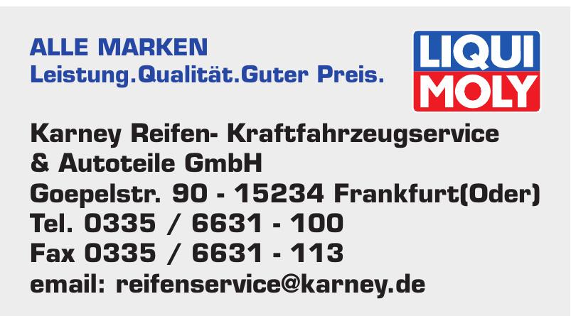Karney Reifen- Kraftfahrzeugservice & Autoteile GmbH