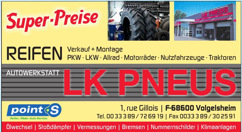 Autowerkstatt LK Pneus