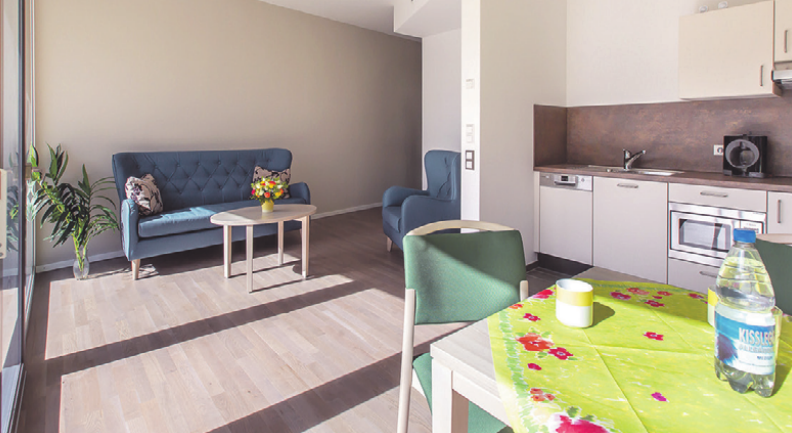 Die Appartements nach dem Konzept ServiceWohnen sind großzügig und offen gestaltet.