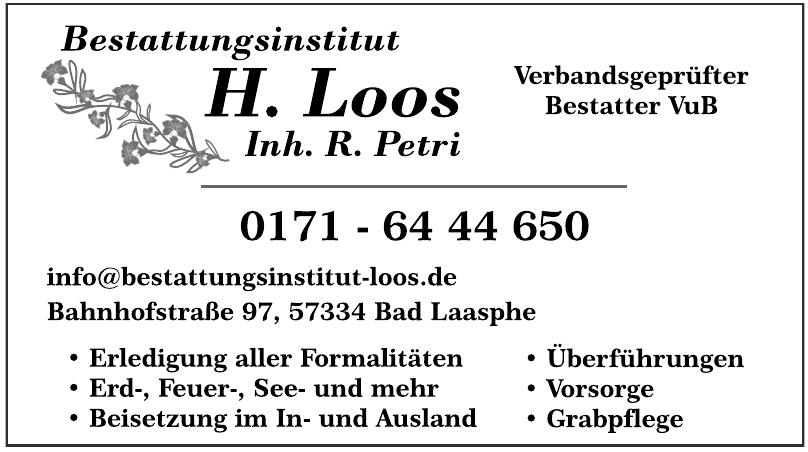 Bestattungsinstitut H. Loos
