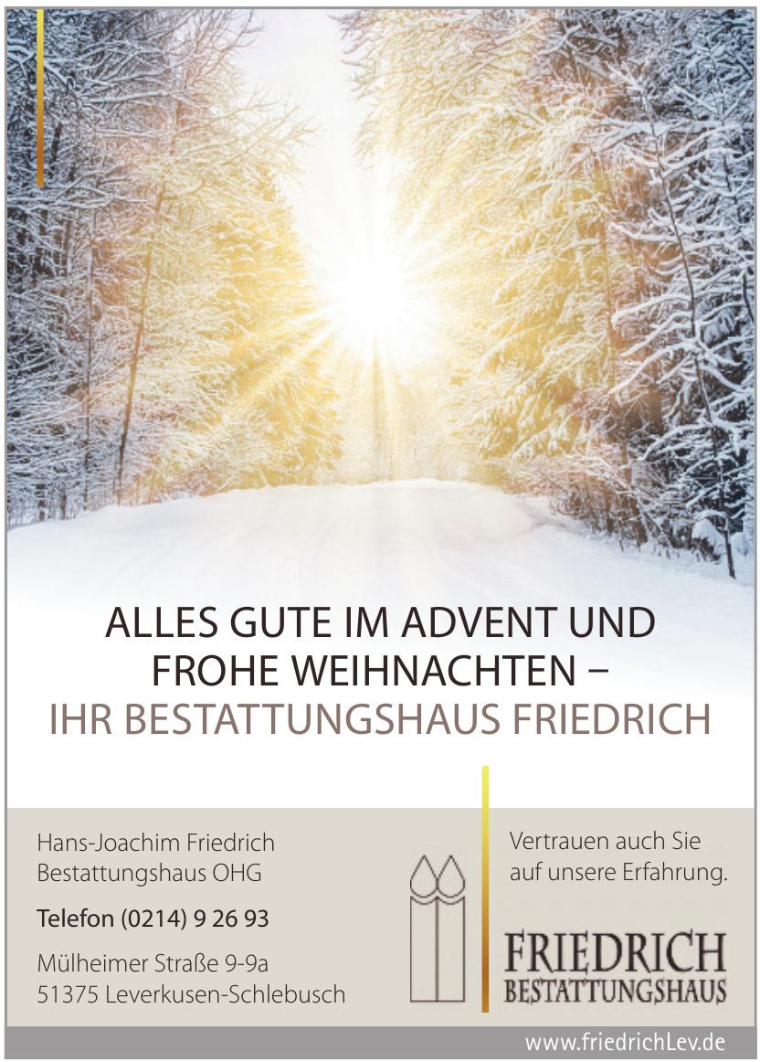 Hans-Joachim Friedrich Bestattungshaus OHG