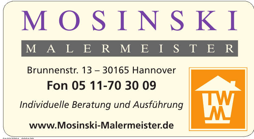 Mosinski Malermeister