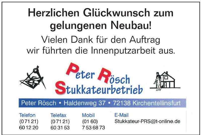 Peter Rösch Stukkateurbetrieb