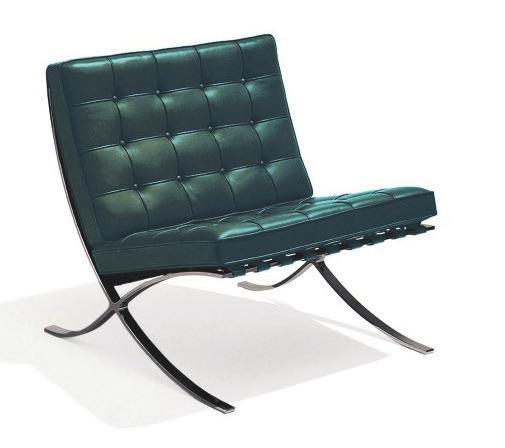 Der Barcelona Sessel, designt 1929 von Ludwig Mies van der Rohe, in einer von Knoll herausgebrachten Sonderedition.FOTO: KNOLL