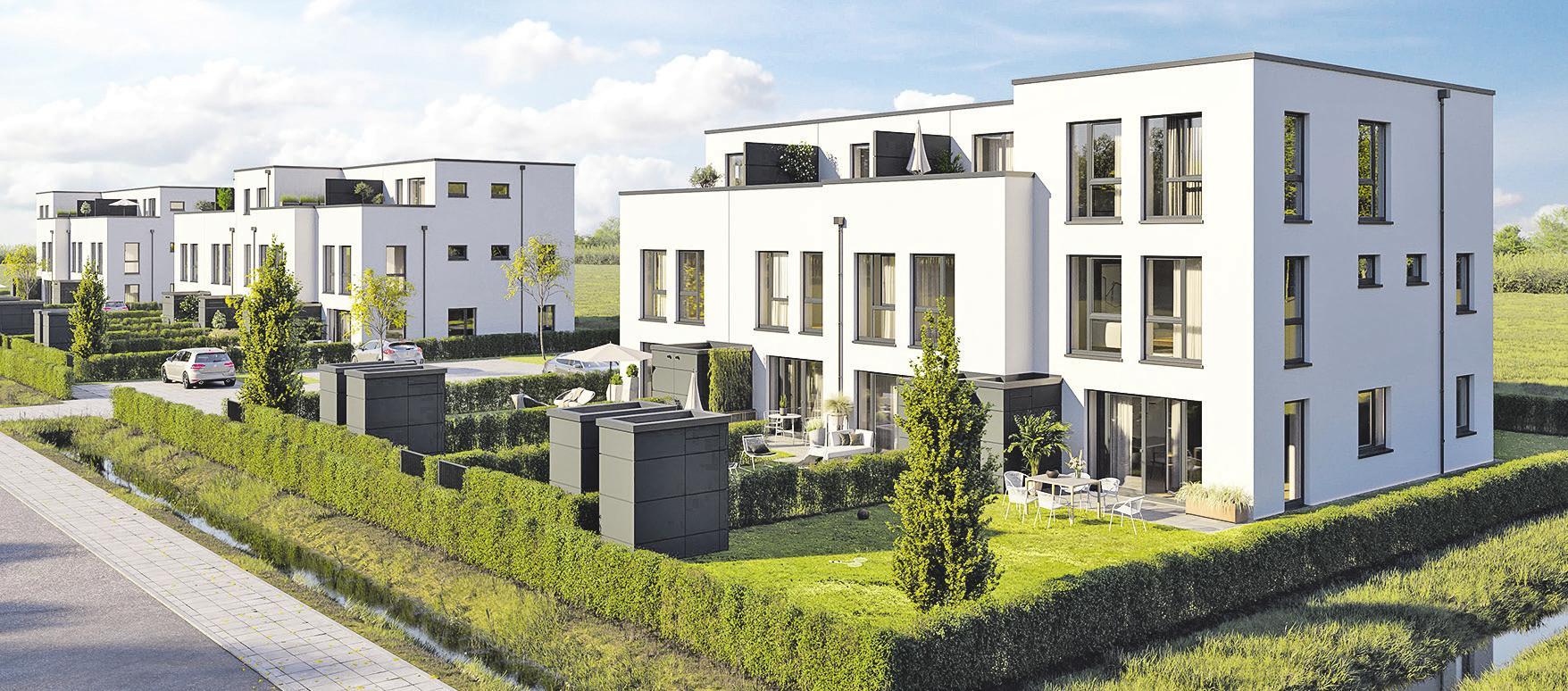 """Ein eigener Garten mit Südausrichtung und lichtverwöhnte Wohnräume: Mit dem Ensemble """"Storchenwiese II"""" entsteht junges, individuelles Wohneigentum"""