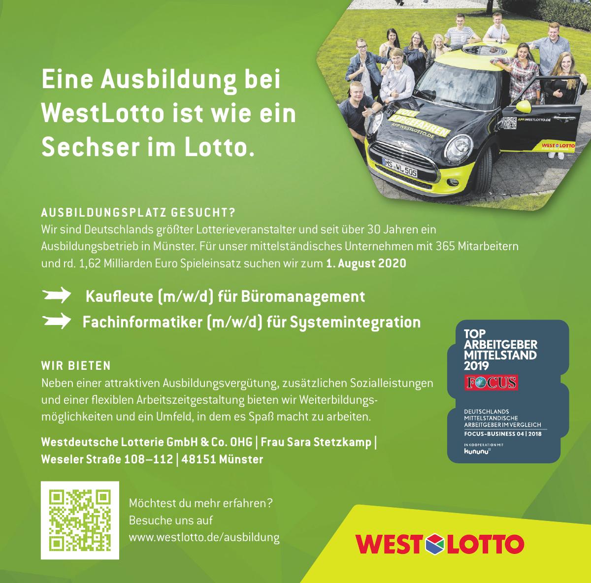 Westdeutsche Lotterie GmbH & Co. OHG