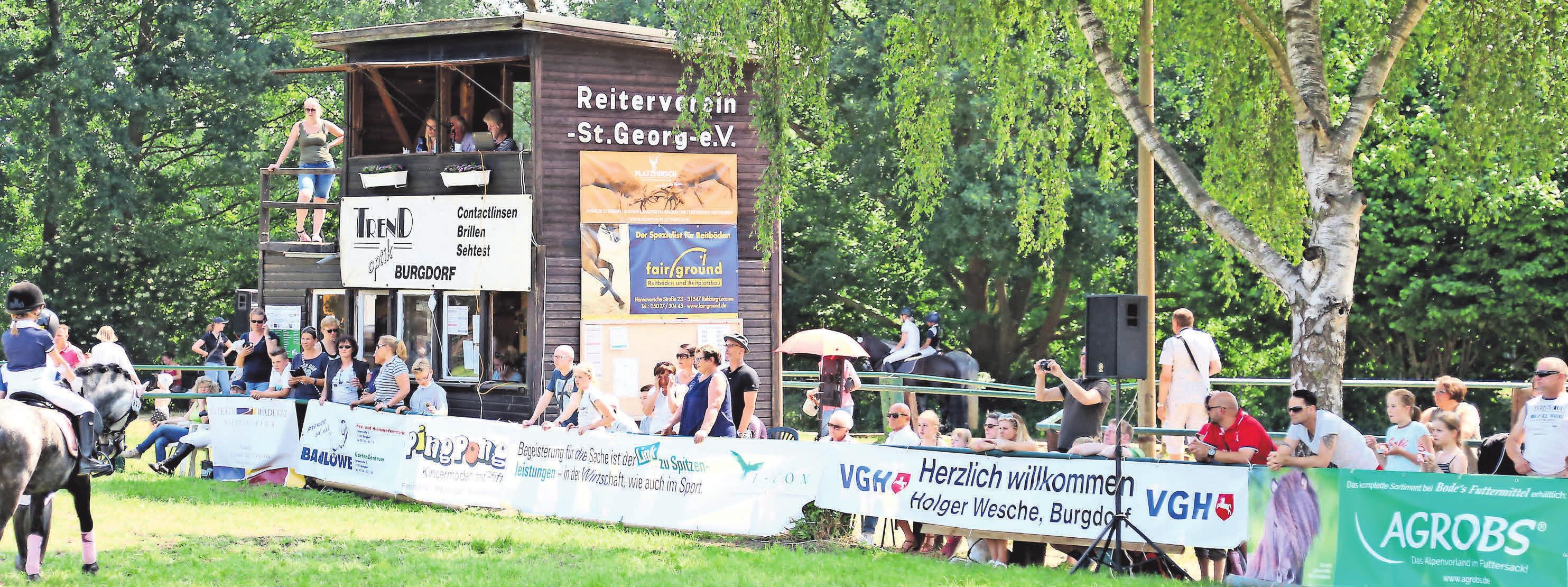 Die verschiedenen Turniere des Reitvereins St. Georg sind immer gut besucht.