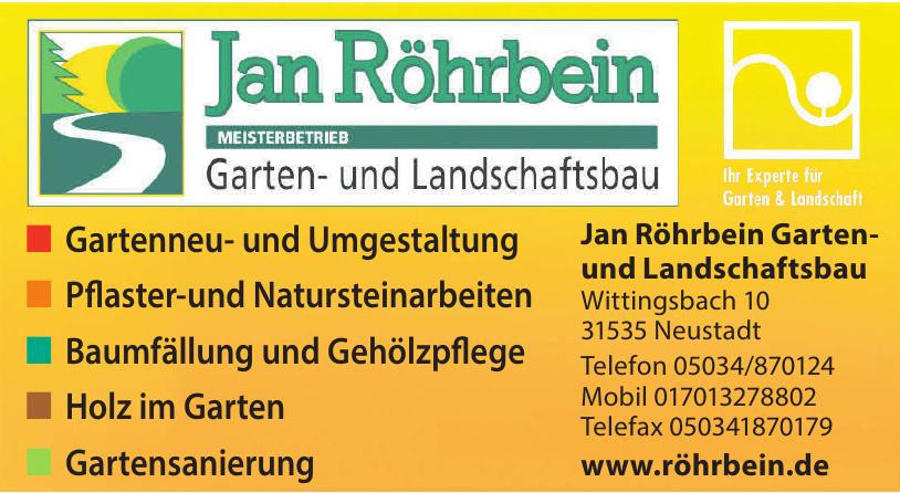 Jan Röhrbein Garten- und Landschaftsbau