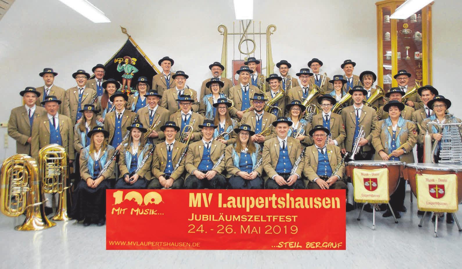 Der Musikverein Laupertshausen hat aktuell 43 aktive Mitglieder. FOTOS: PRIVAT
