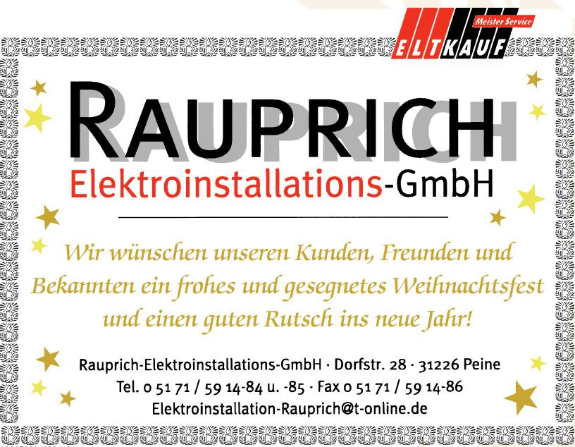 Rauprich Elektroinstallations - GmbH