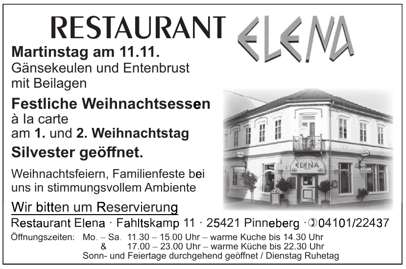 Restaurant Elena
