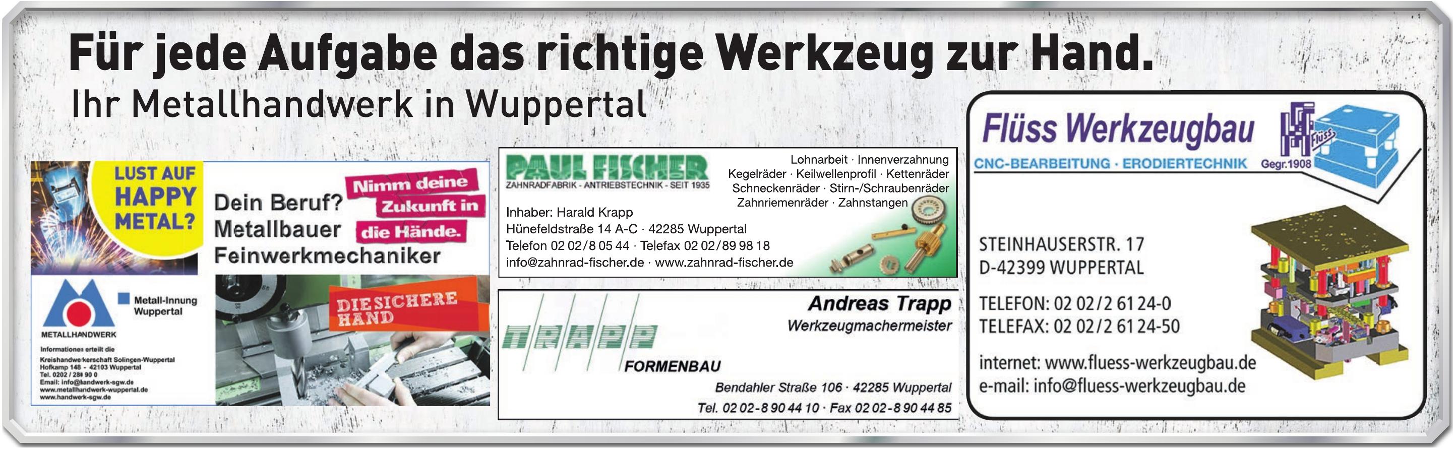 Metallhandwerk in Wuppertal
