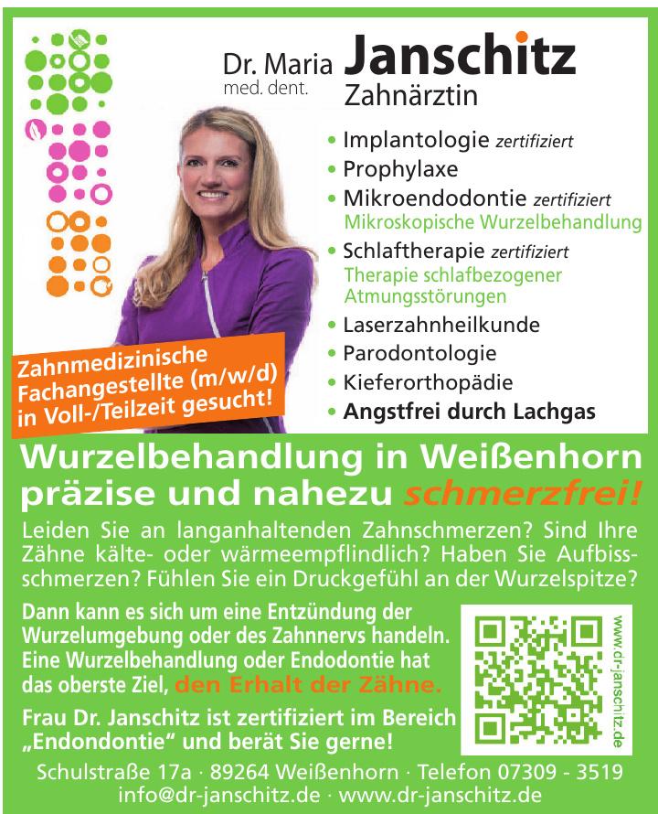 Dr.  med. dent. Maria Janschitz Zahnärztin