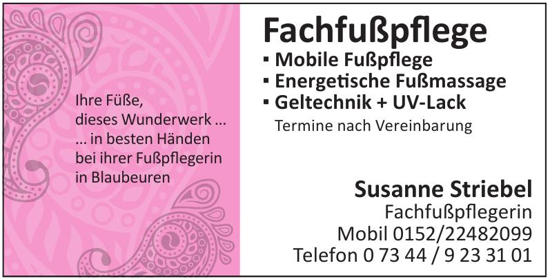 Susanne Striebel Fachfußpflegerin