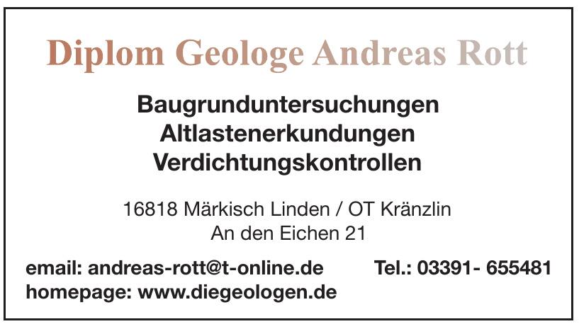 Diplom Geologe Andreas Rott