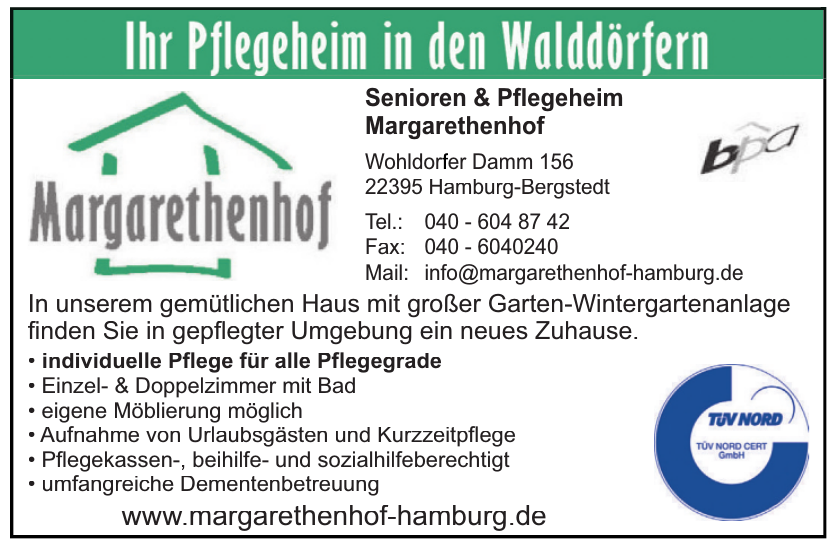 Senioren & Pflegeheim Margarethenhof
