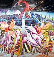 Fantasievoll, bunt: so präsentiert sich die neue Indoor-Welt im Holiday-Park. Foto: Holiday Park/frei