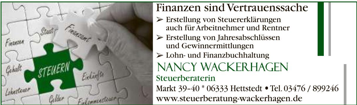 Nancy Wackerhagen Steuerberaterin
