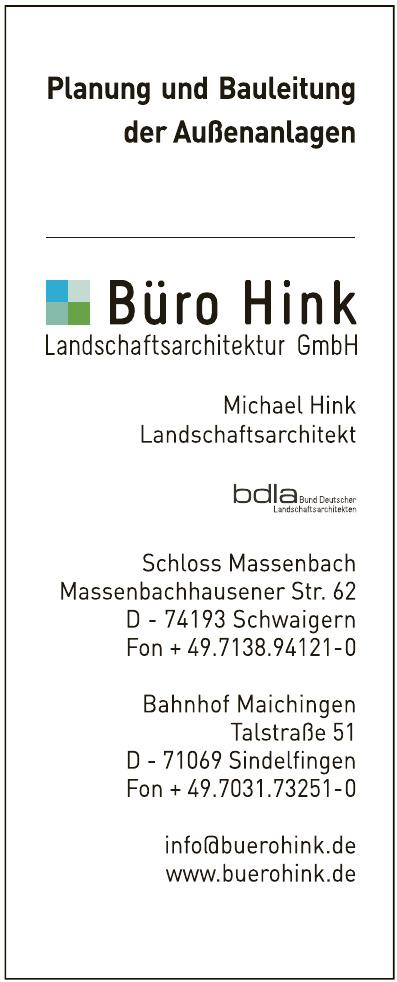 Büro Hink Landschaftsarchitektur GmbH - Schloss Massenbach