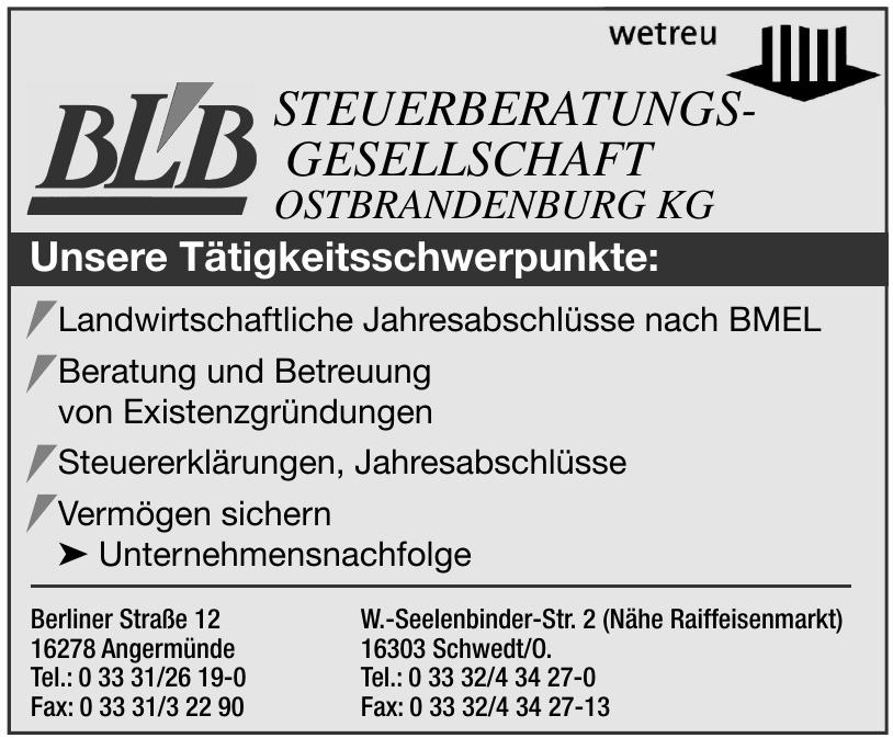 wetreu BLB Steuerberatungsgesellschaft Ostbrandenburg KG