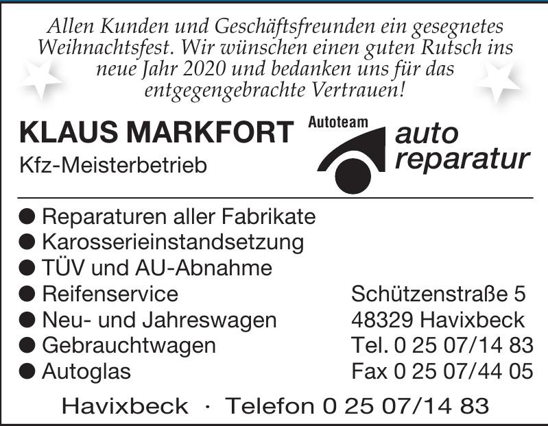 Klaus Markfort Kfz-Meisterbetrieb