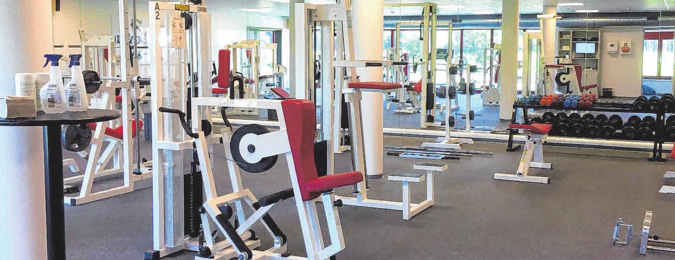 Modern und auf dem neuesten Stand ist das betriebseigene Fitnessstudio des Unternehmens.