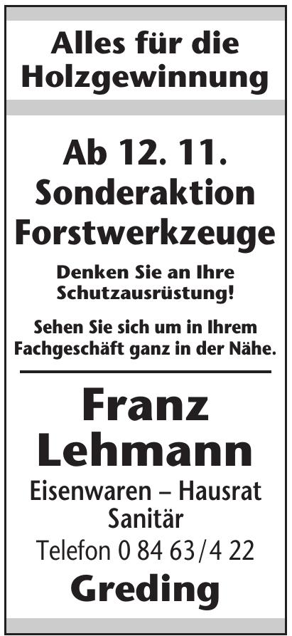 Franz Lehmann