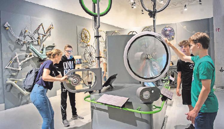 """In der Ausstellung """"BIKE IT"""" können sich interessierte Besucher fortbilden."""