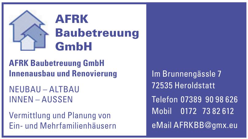 AFRK Baubetreuung GmbH Innenausbau und Renovierung