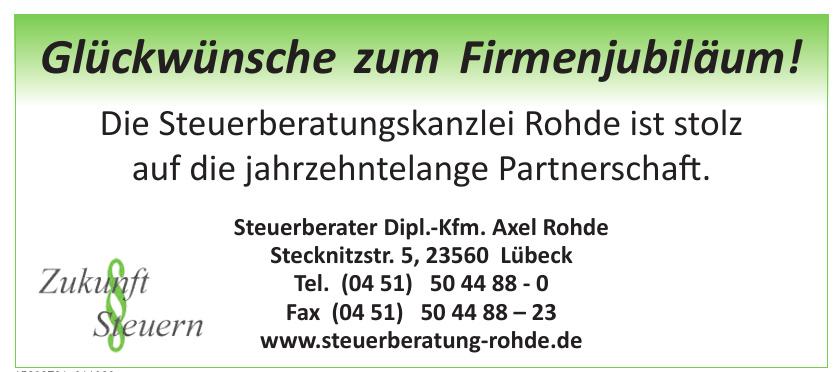 Steuerberater Dipl.-Kfm. Axel Rohde