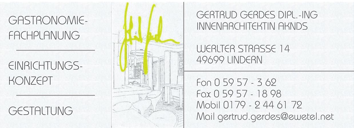 Gertrud Gerdes dipl.-Ing Innenarchitektin Aknds